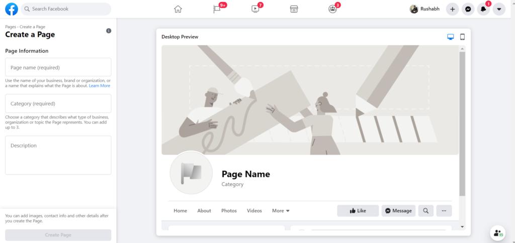 Make a brand name on Facebook.