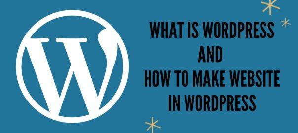 What is WordPress blog