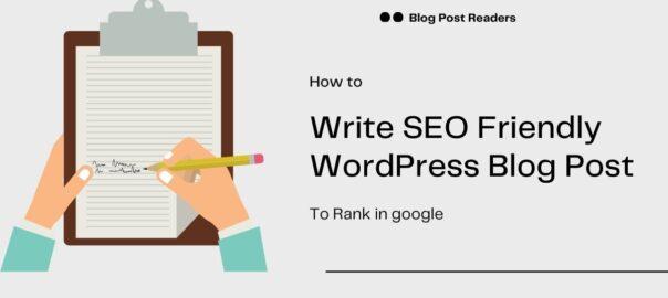 Write seo friendly blog posts.
