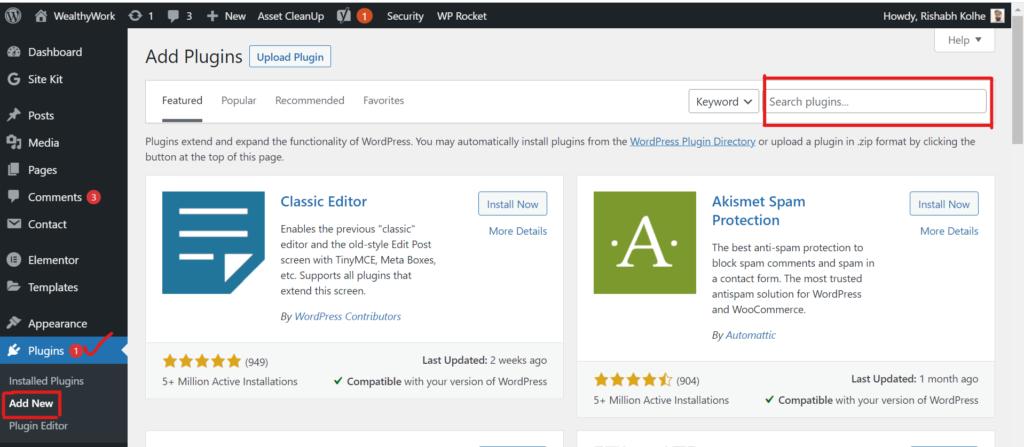 WordPress plugins.