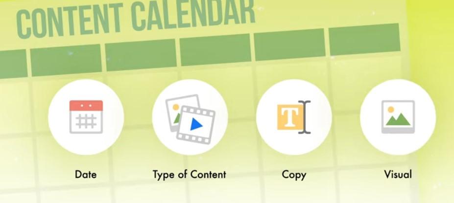 Content calendar for Instagram marketing.