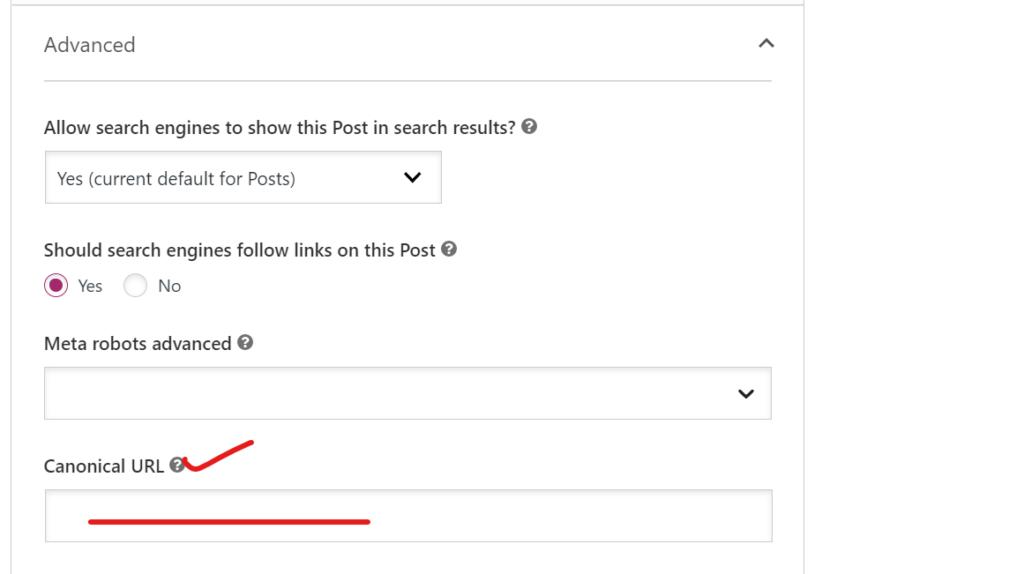 Add canonical URL using Yoast SEO.
