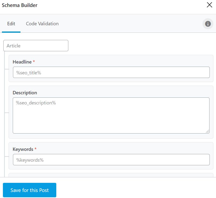 Add schema builder data