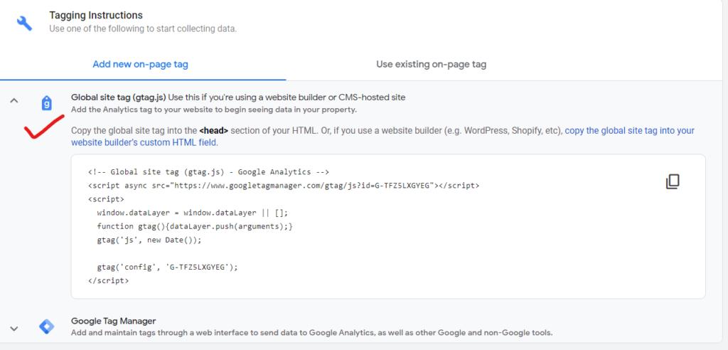 Tracking code, google analytics
