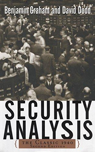 Security Analysis, Written by Benjamin Graham.
