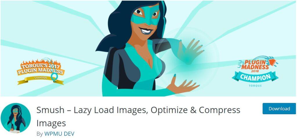 Smush image optimization plugin
