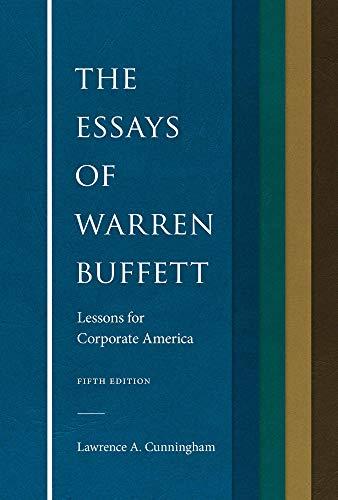 The Essays of Warren Buffett bet book for investing