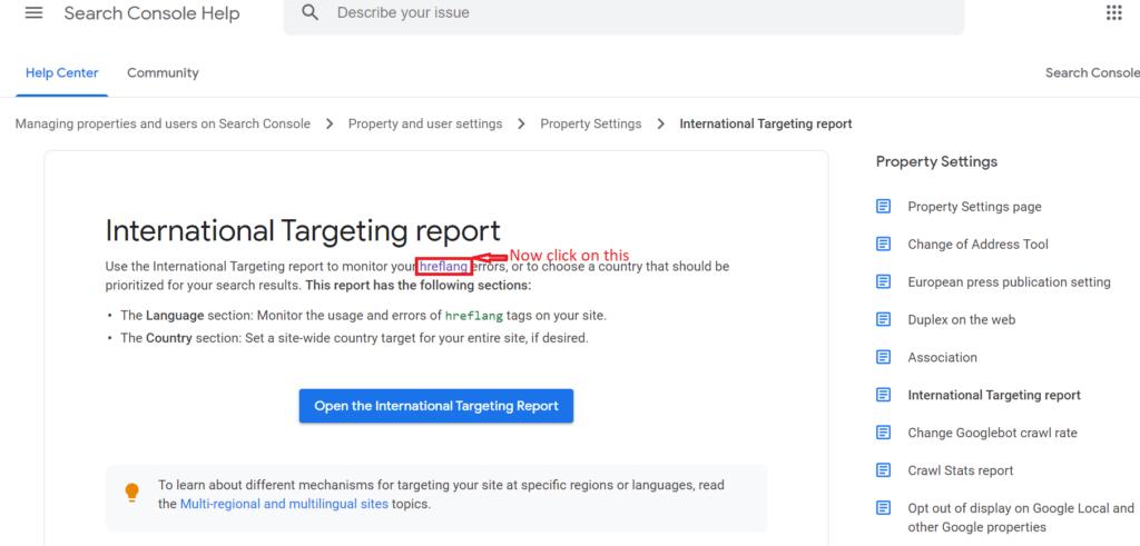 International targeting report