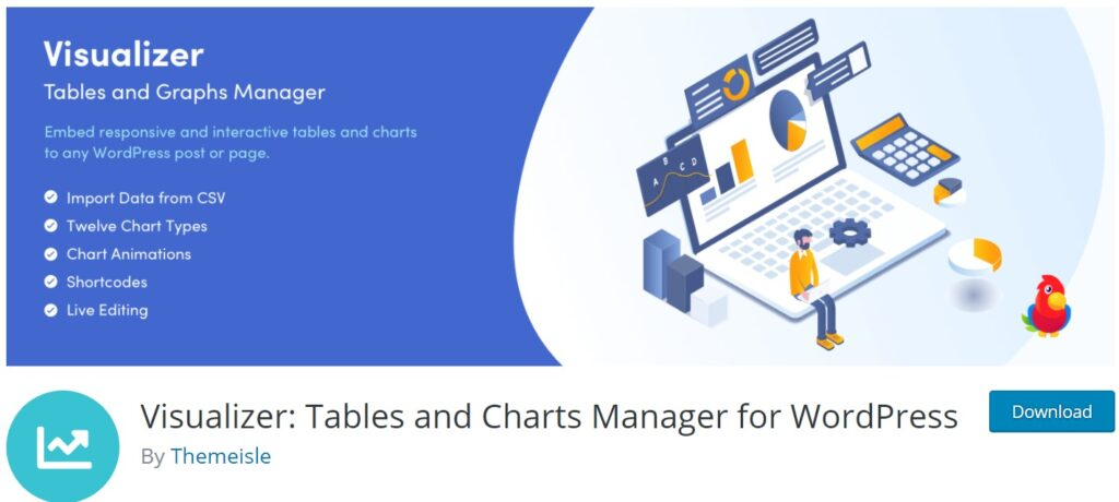 Visualizer tables and chart plugin for image optimization