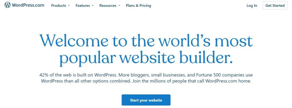 Wordpress.com auto best blogging platform