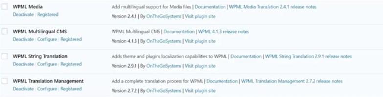 WPML plugins