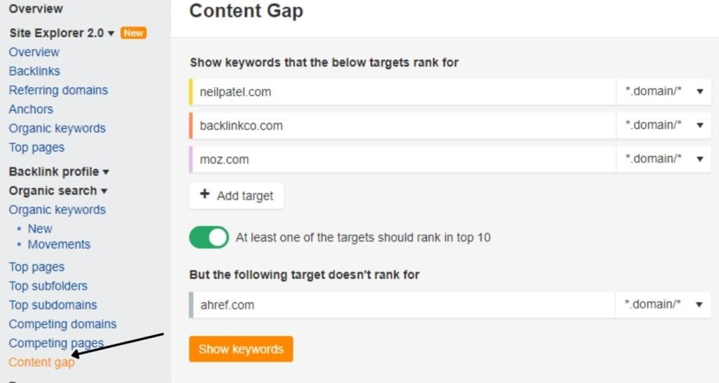 Gather your competitor's SEO data and strategy