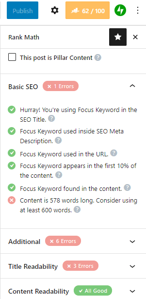 Use SEO plugins before writing blog posts.