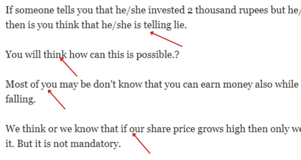 Use shorter paragraph when write blog posts.