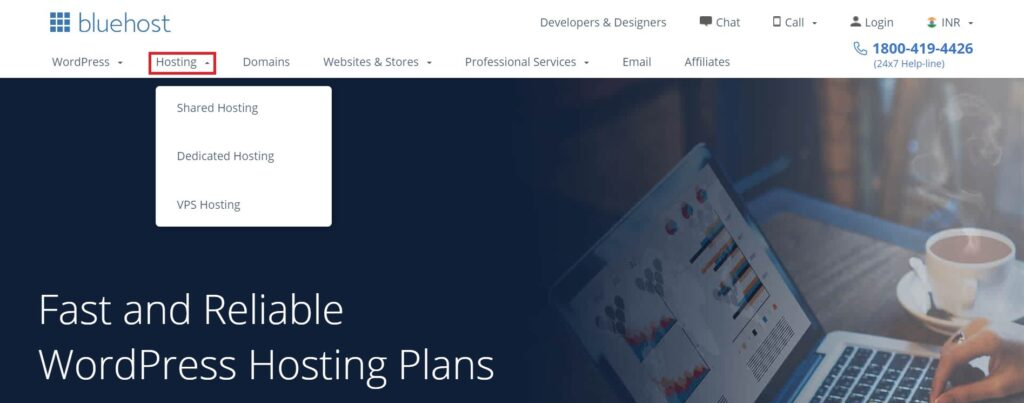 Buying hosting and domain from Bluehost.