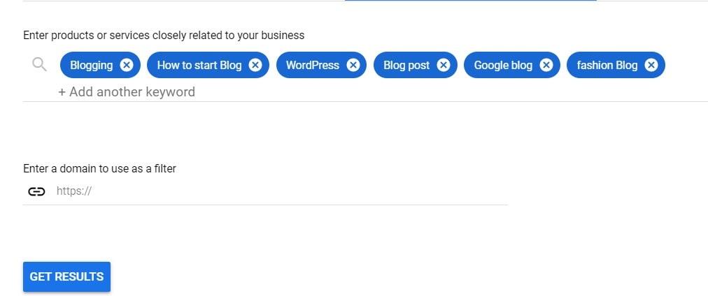 Bulk keyword idea in google keyword planner.