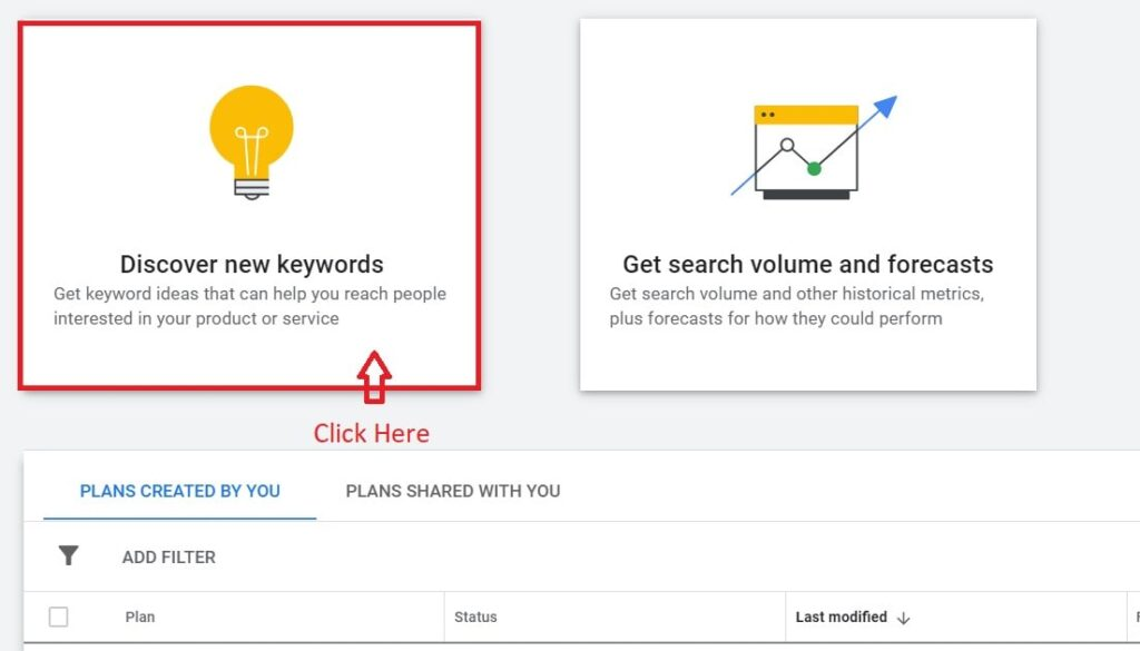 Discover new keywords ideas.