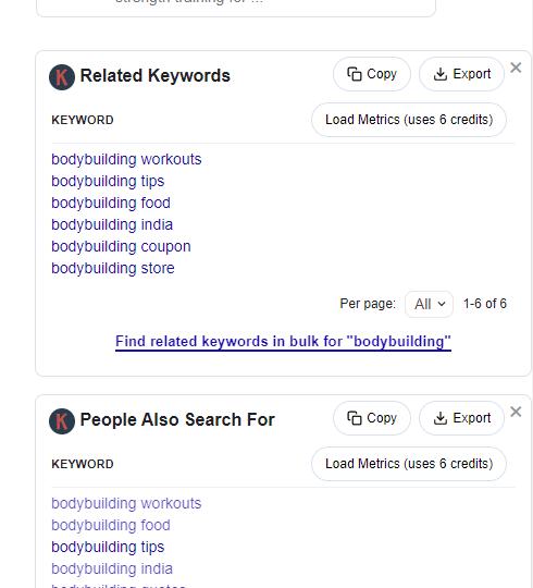 Keywords everywhere.