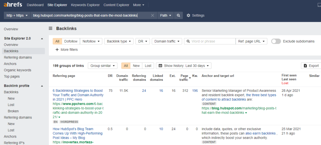 You can also target a specific page for your competitor keyword research.