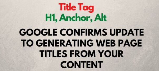 Google title tag generation policy