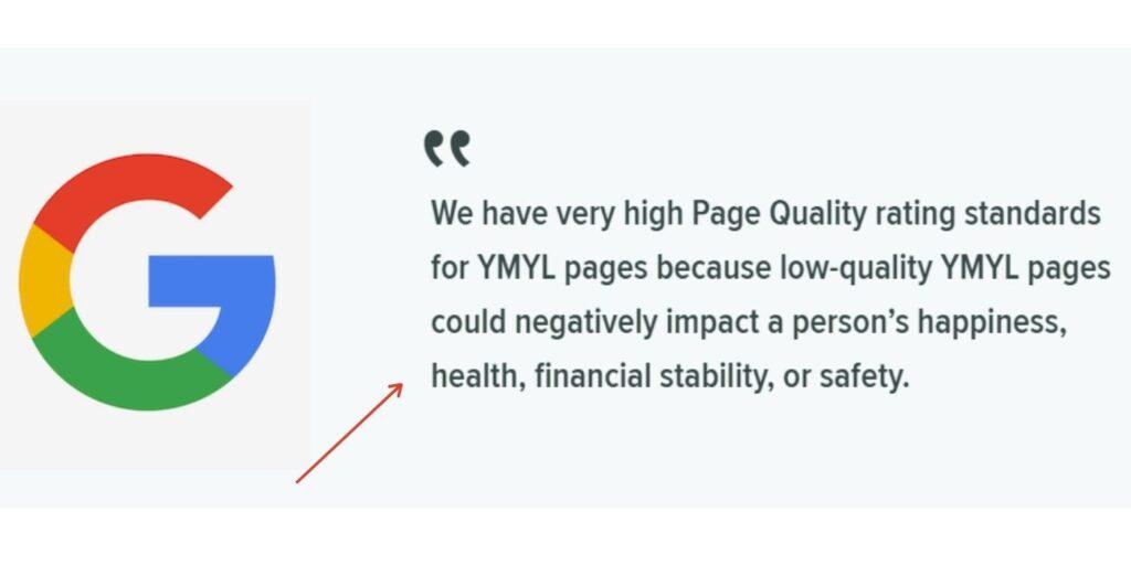 Google YML factor in google E-A-T algorithm.