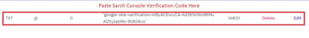 Change your TXT record with verification code in Google search console.