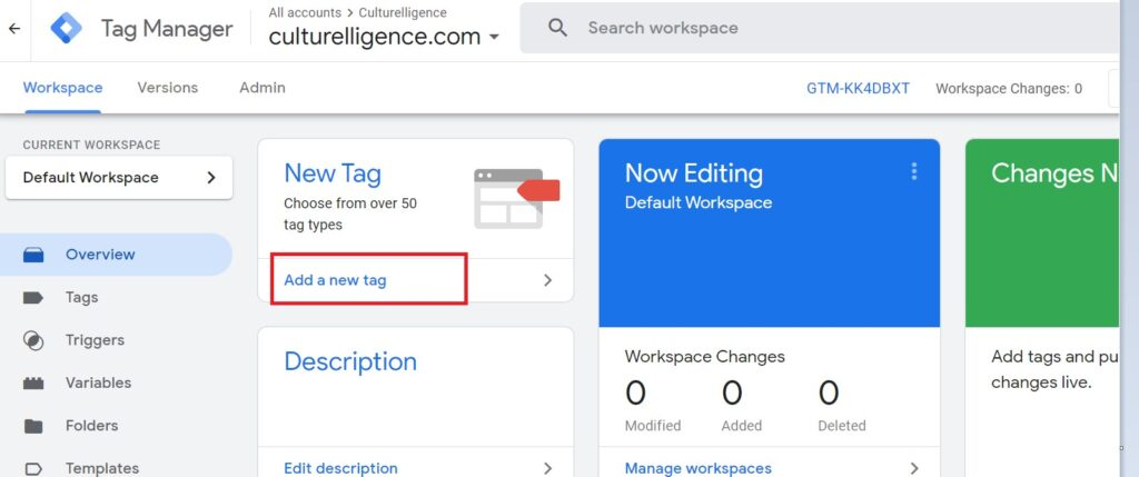 Setup Google analytics with Tag manager.