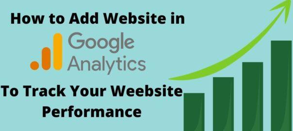 How ton add website in google analytics.