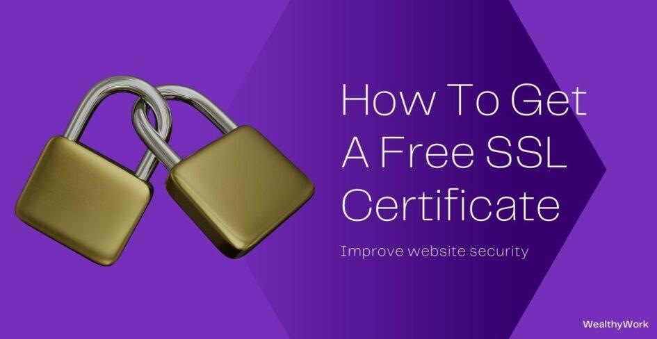 get a free ssl certificate