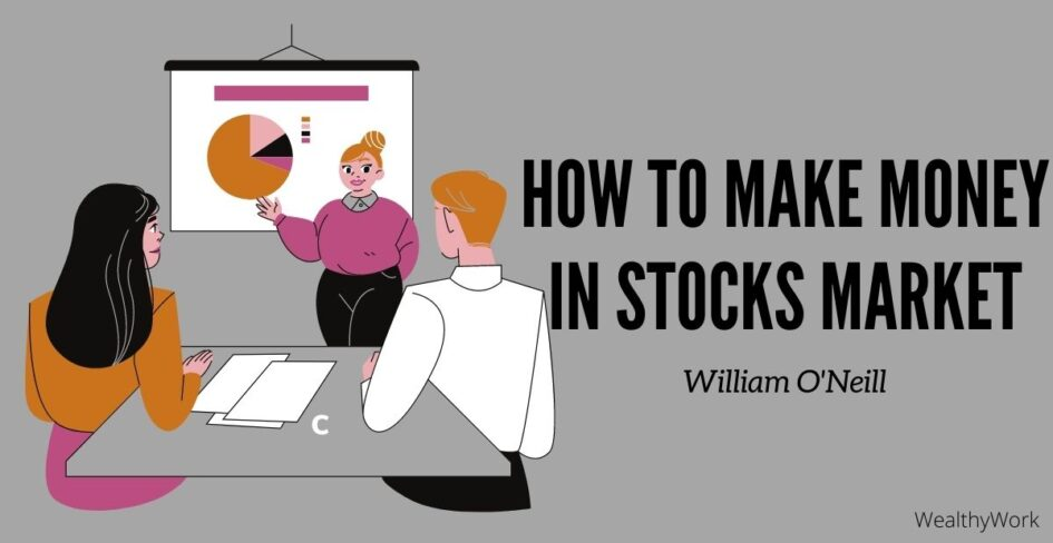 One lady teaching about how to make money in stock market.