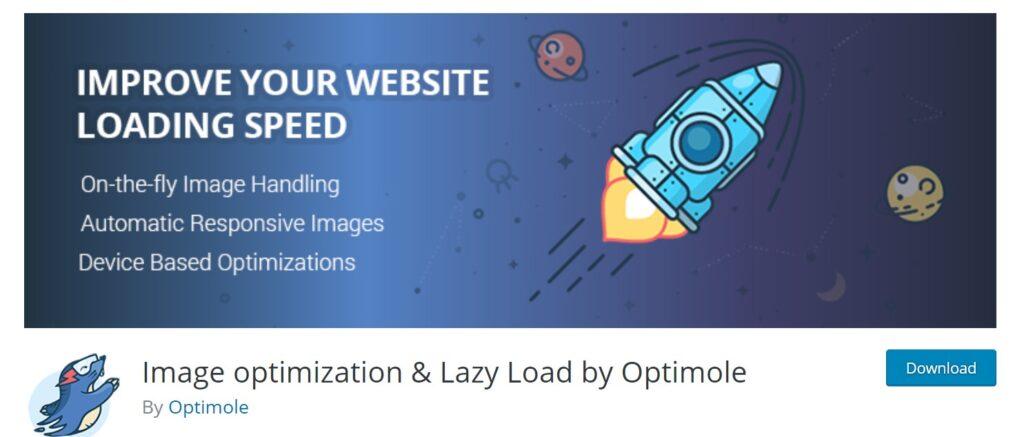 Install Optimole image optimization plugin in WordPress.
