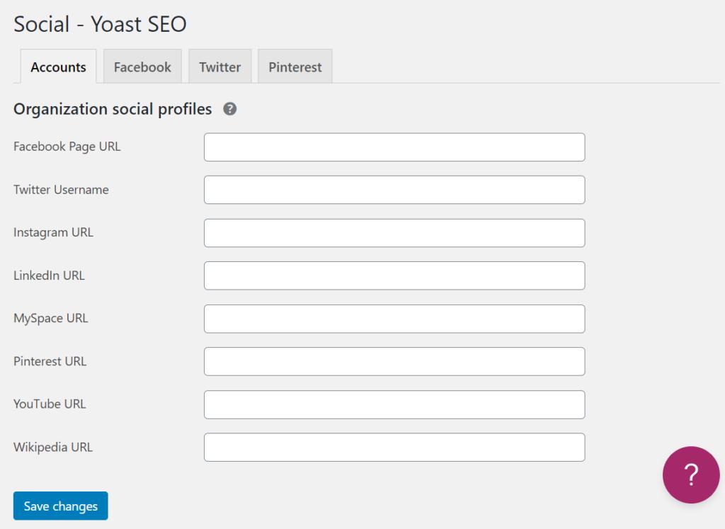 social profiles by yoast seo plugin
