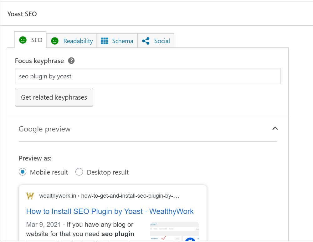 check post and pages using yoast seo.