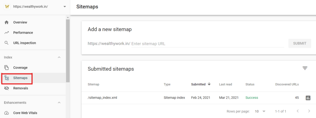 Submit sitemap in google search console.