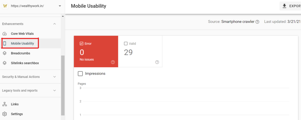 Check mobile usability from google search console.
