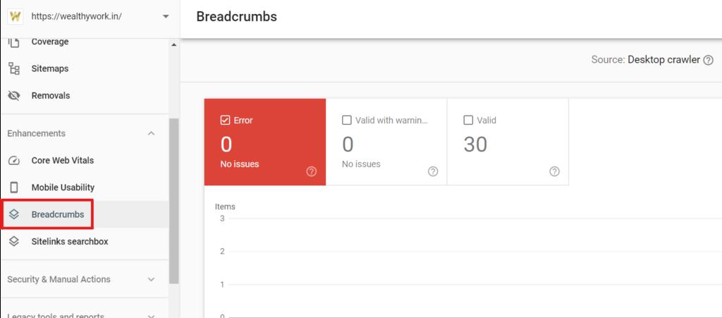 Breadcrumbs.