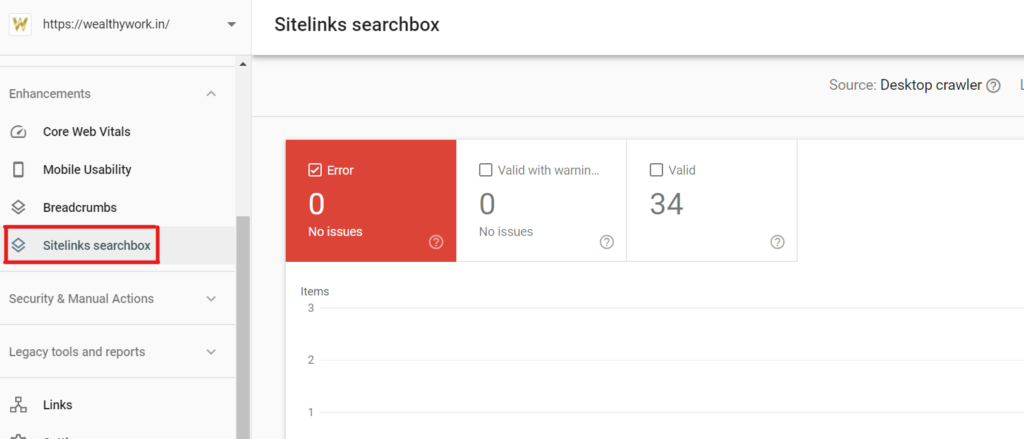 Sitelinks Search box.